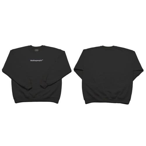 Wethepeople Embroidery Sweater Black X Large